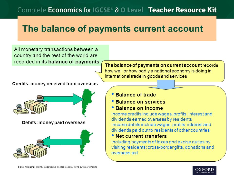 The balance of payments current account