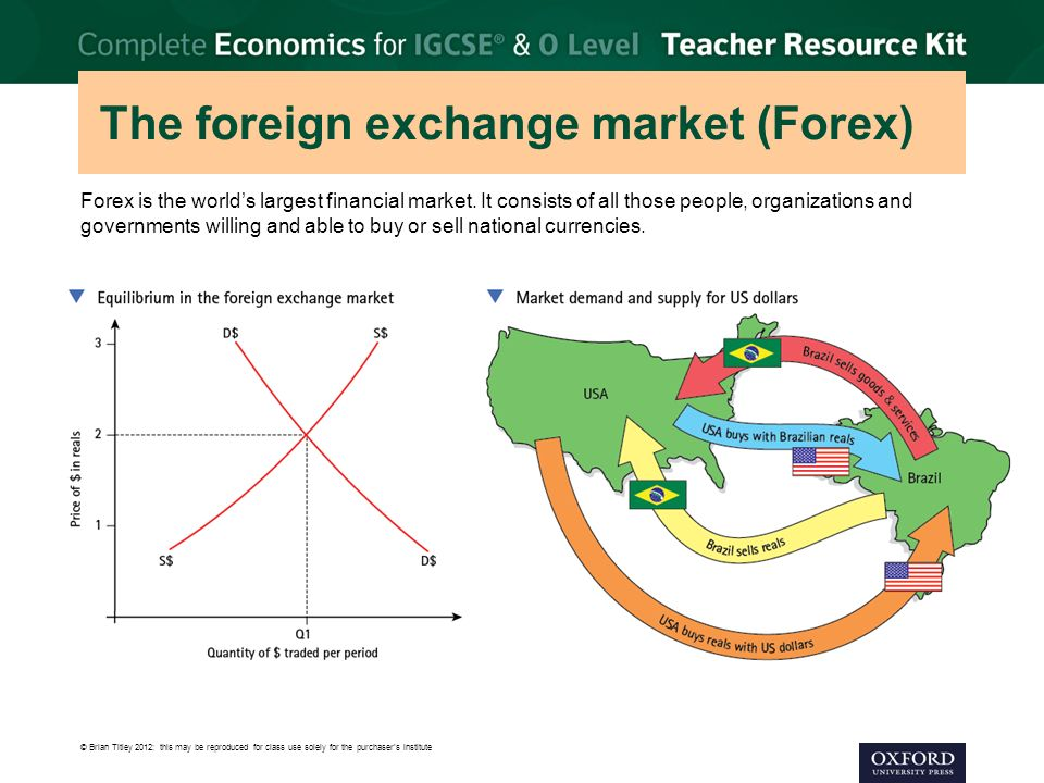 The foreign exchange market (Forex)