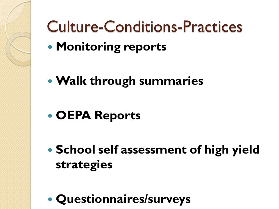 Culture-Conditions-Practices