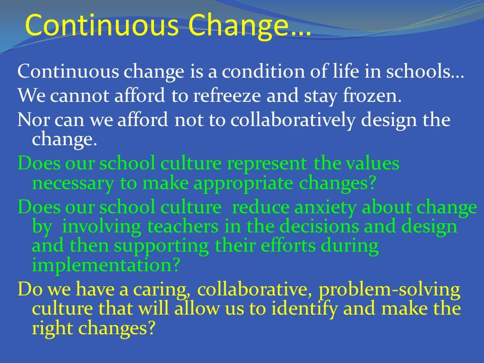 Continuous Change…
