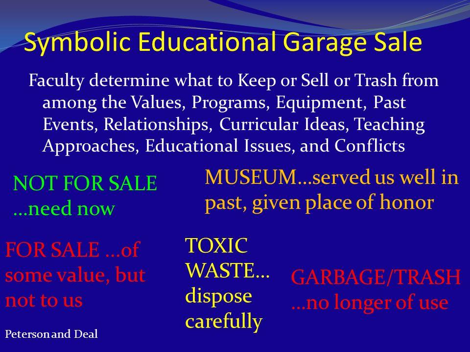Symbolic Educational Garage Sale