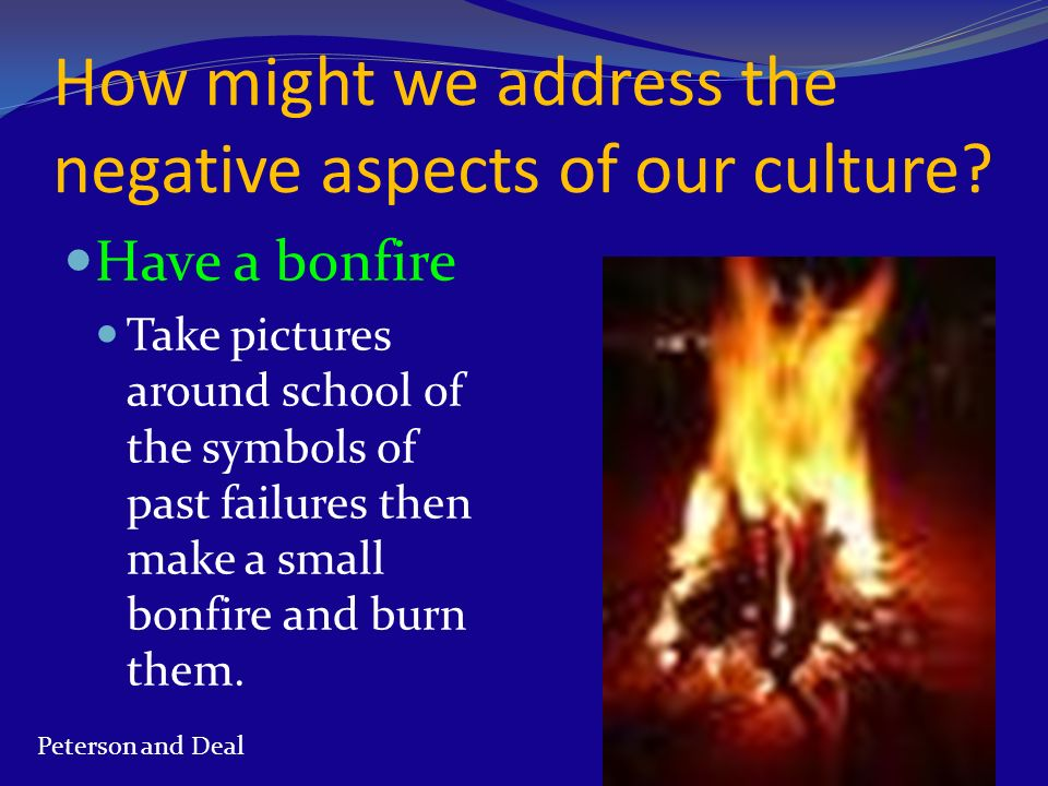 How might we address the negative aspects of our culture