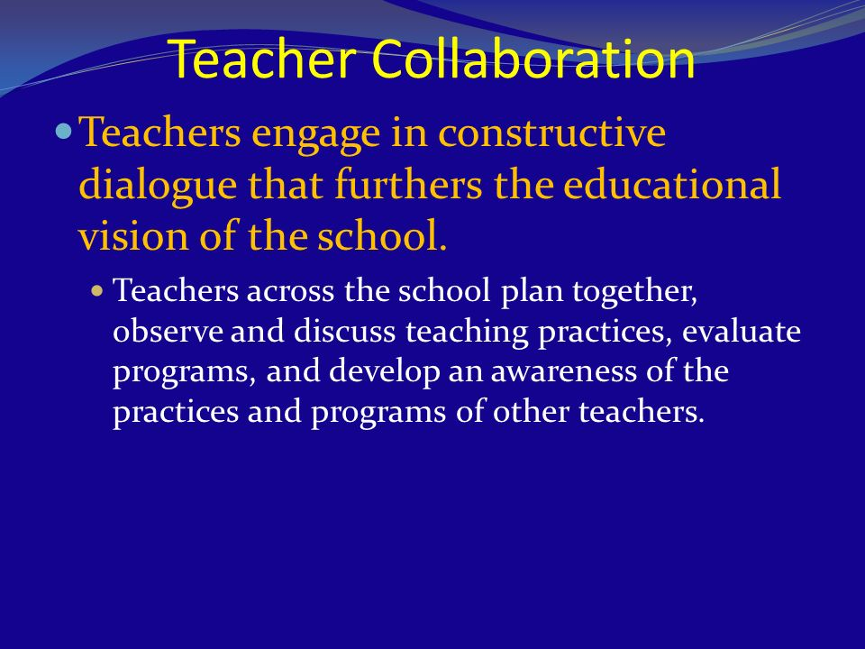Collaborative Teaching Powerpoint ~ Studying and shaping culture as a key component for school