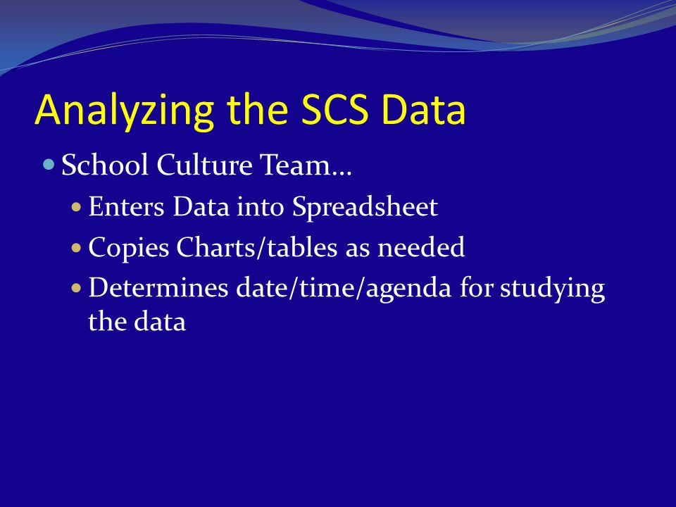 Analyzing the SCS Data School Culture Team…