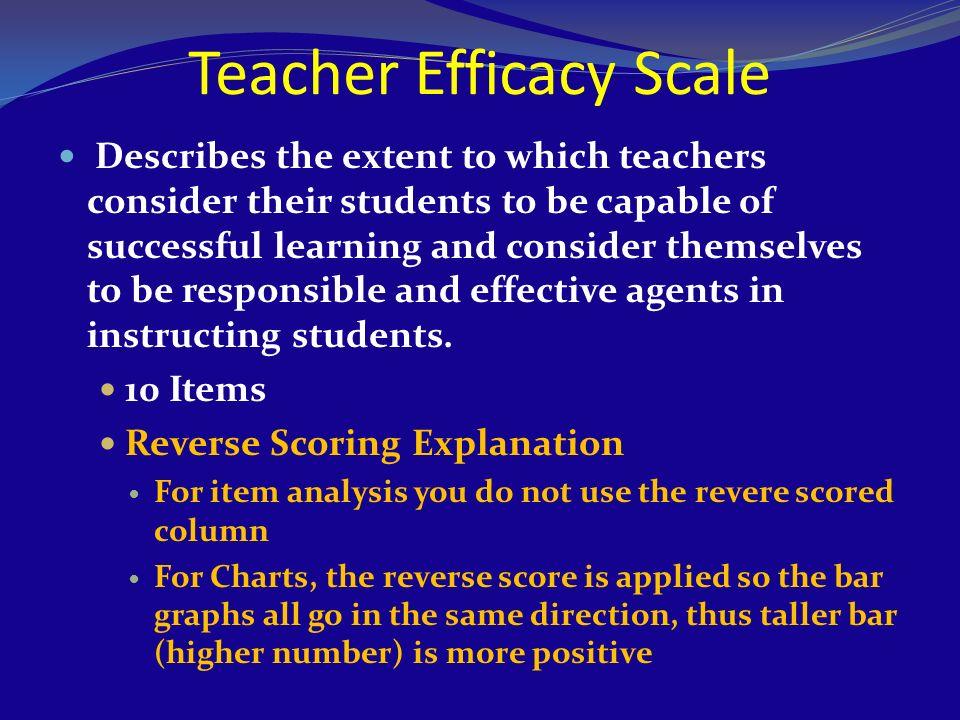 Teacher Efficacy Scale