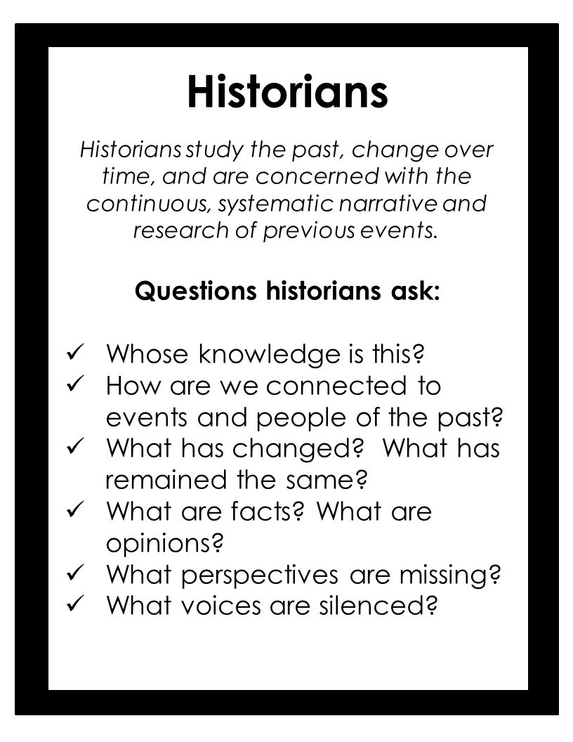 Image result for Questions historians ask