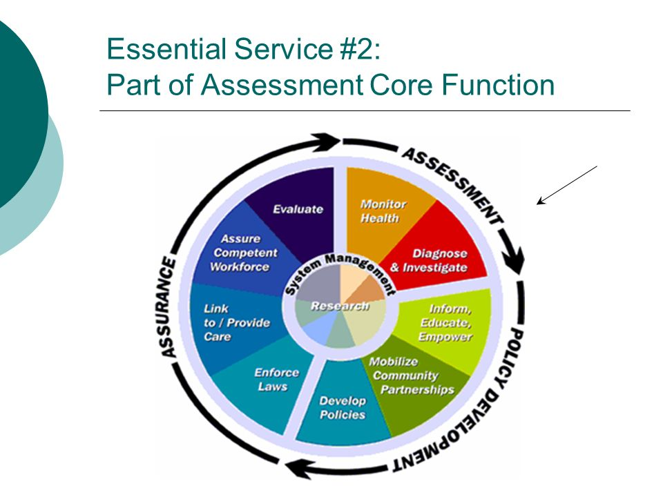 Essential Service #2: Part of Assessment Core Function