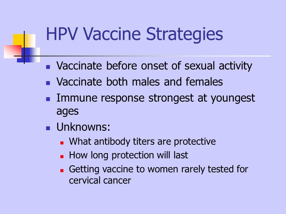 HPV Vaccine Strategies