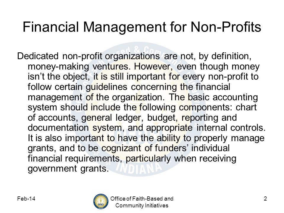 Financial Management for Non-Profits