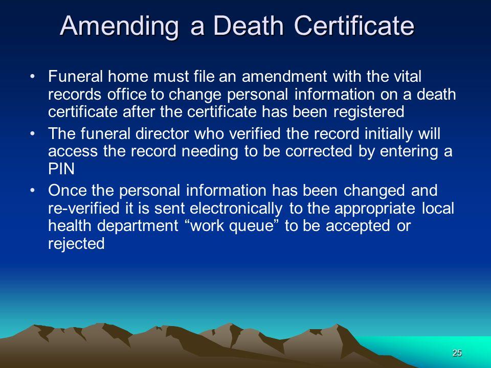 Amending a Death Certificate