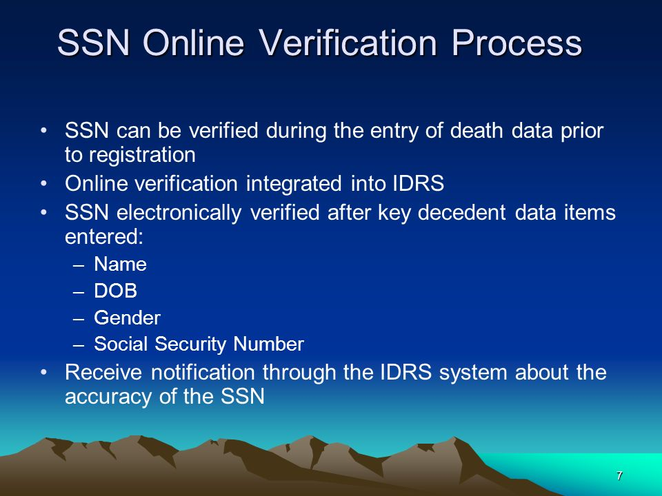 SSN Online Verification Process