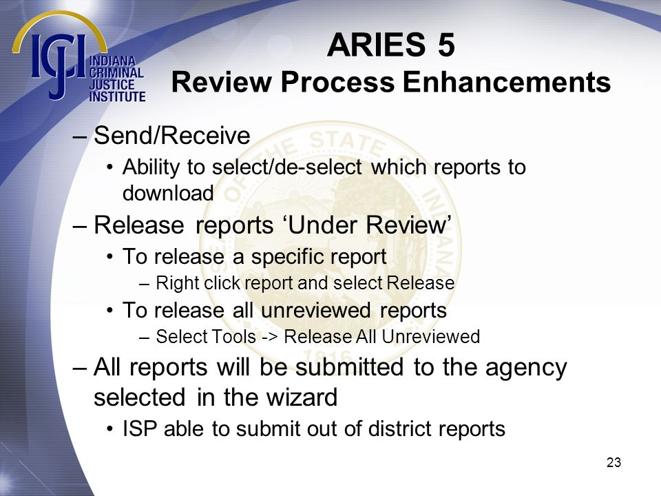 ARIES 5 Review Process Enhancements