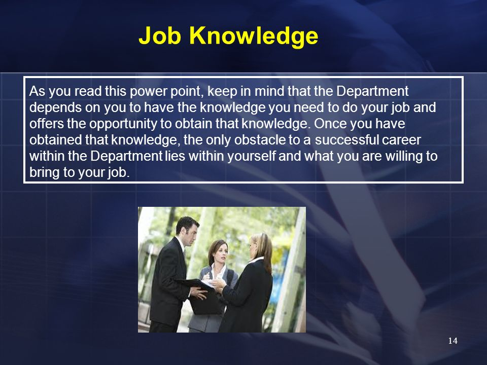 Job Knowledge