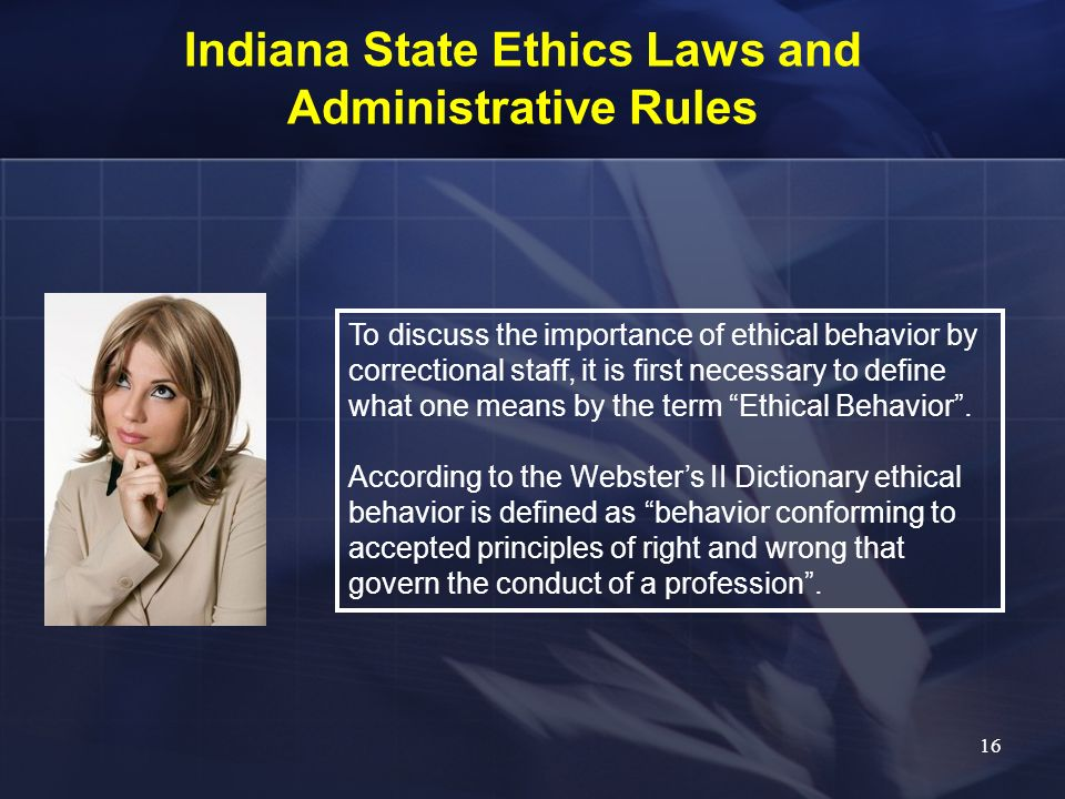 Indiana State Ethics Laws and Administrative Rules