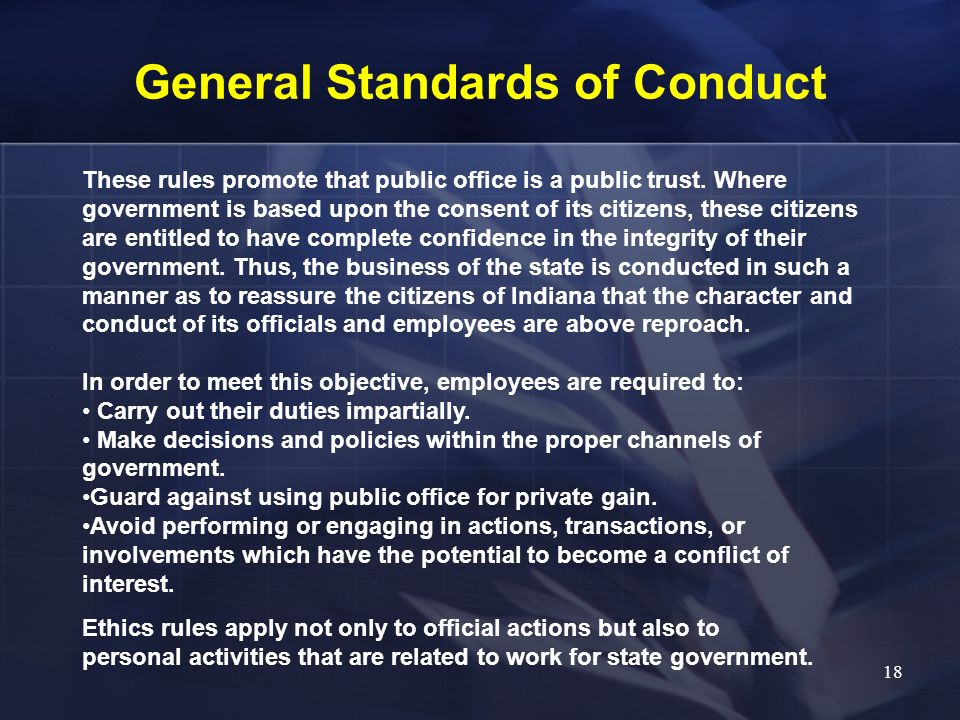 General Standards of Conduct