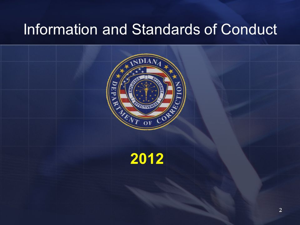 Information and Standards of Conduct