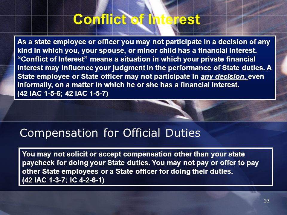 Compensation for Official Duties
