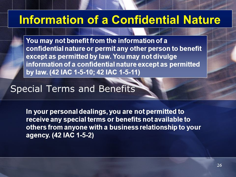 Information of a Confidential Nature