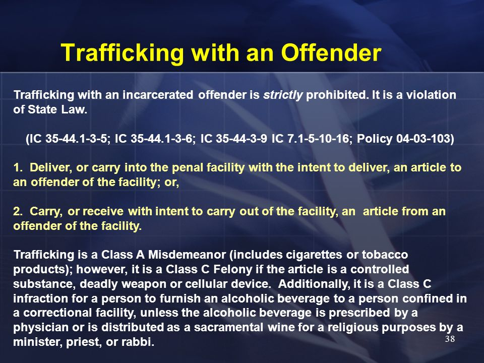 Trafficking with an Offender