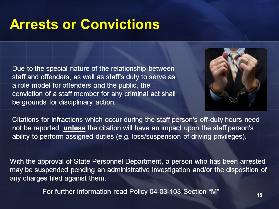 Arrests or Convictions