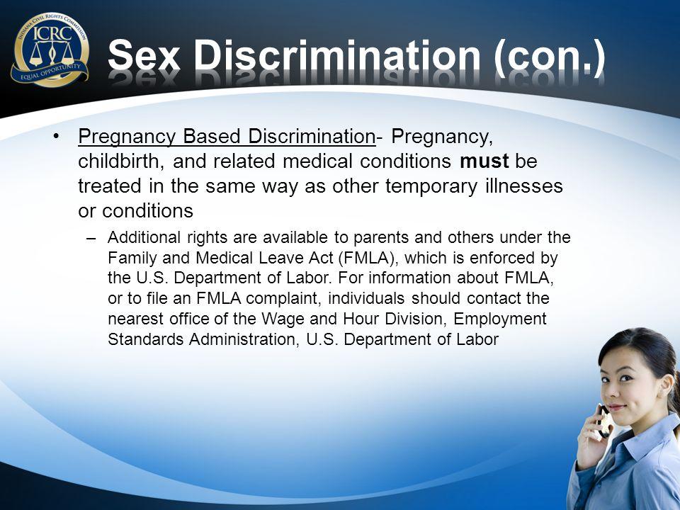 Sex Discrimination (con.)