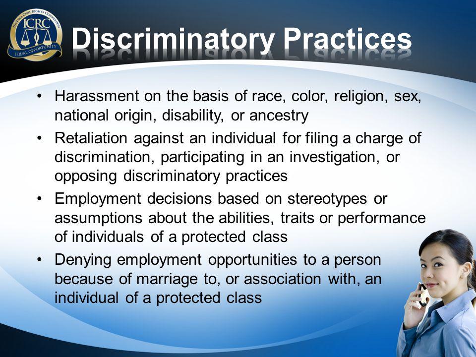 Discriminatory Practices