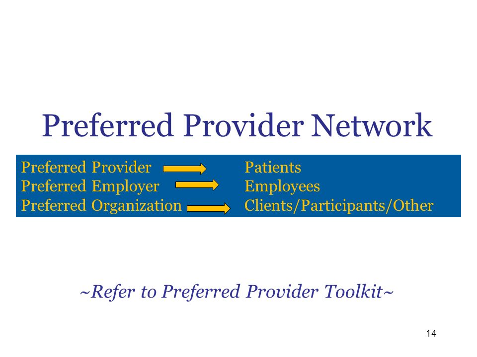 Preferred Provider Network