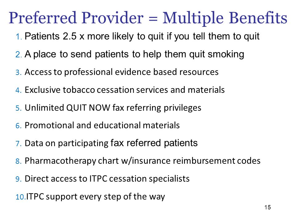 Preferred Provider = Multiple Benefits