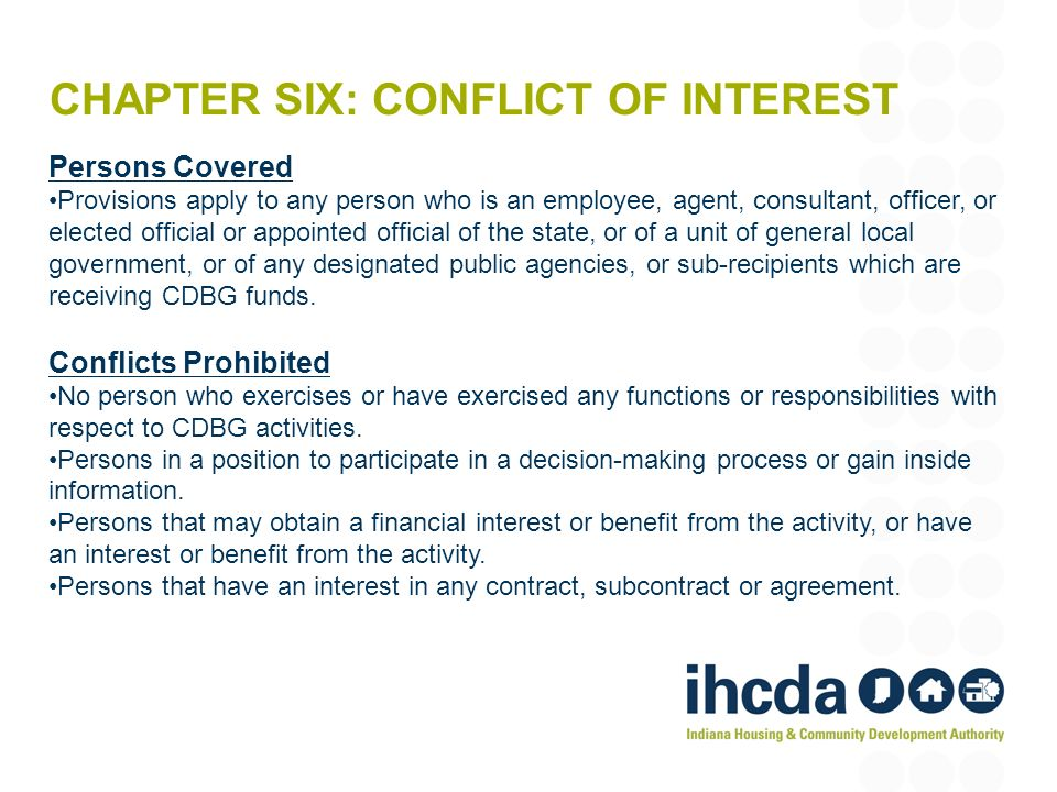 Chapter Six: Conflict of Interest