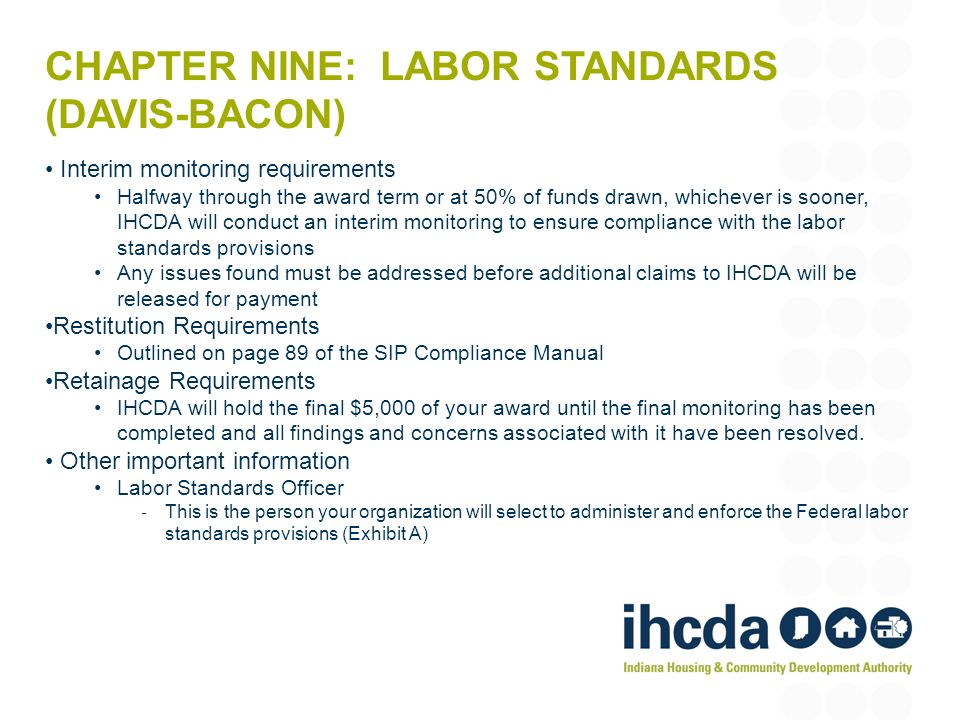 Chapter Nine: Labor Standards (Davis-Bacon)