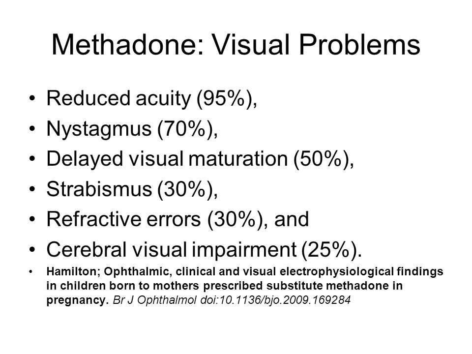 Methadone: Visual Problems