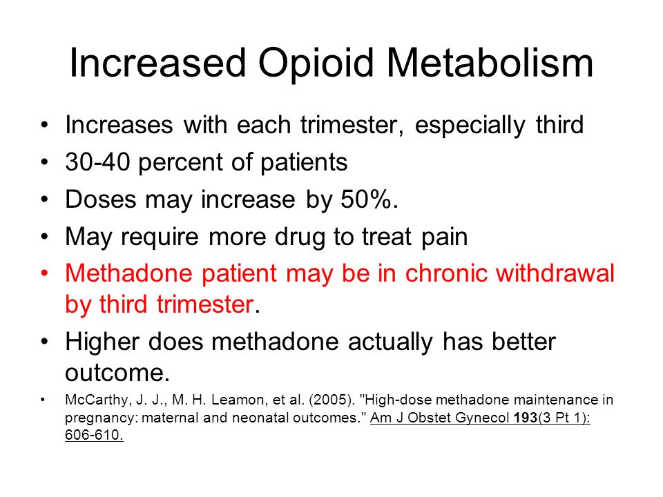 Increased Opioid Metabolism