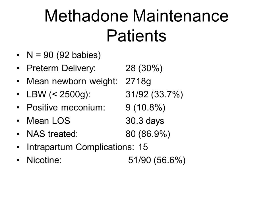 Methadone Maintenance Patients