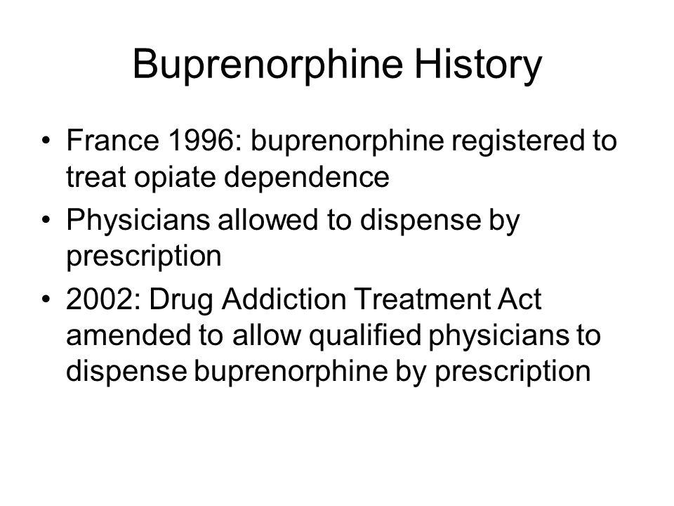 Buprenorphine History