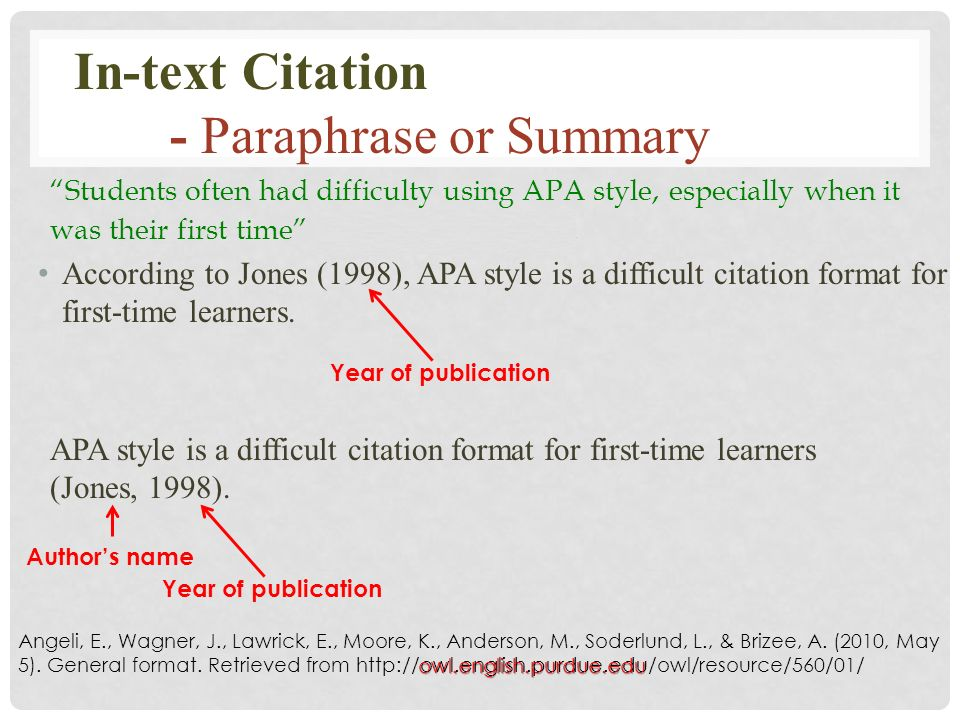 apa style citation for textbook