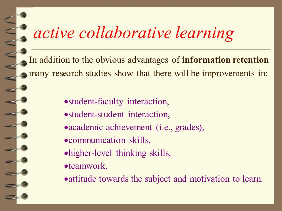 Collaborative Learning In Classroom Interaction ~ The best method of teaching ppt video online download
