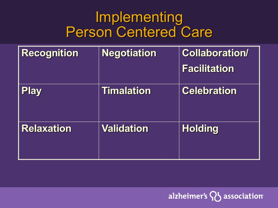Implementing Person Centered Care