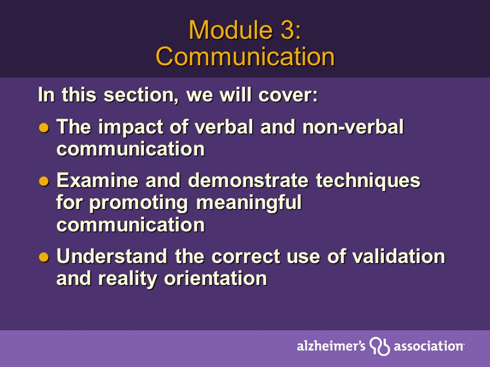 Module 3: Communication