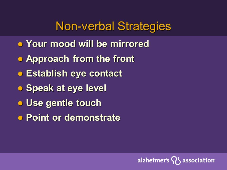 Non-verbal Strategies