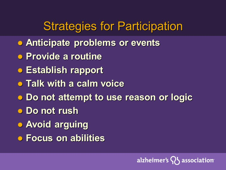 Strategies for Participation