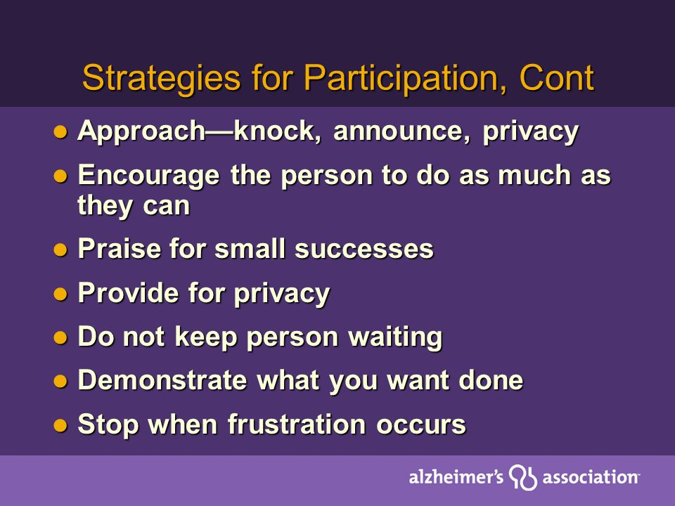 Strategies for Participation, Cont