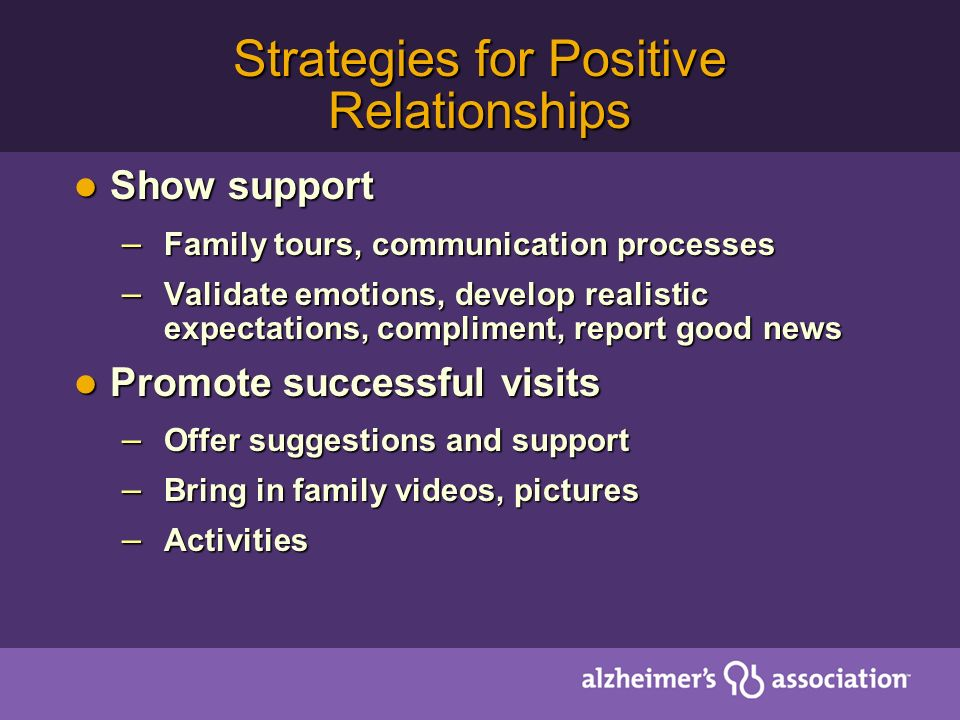 Strategies for Positive Relationships
