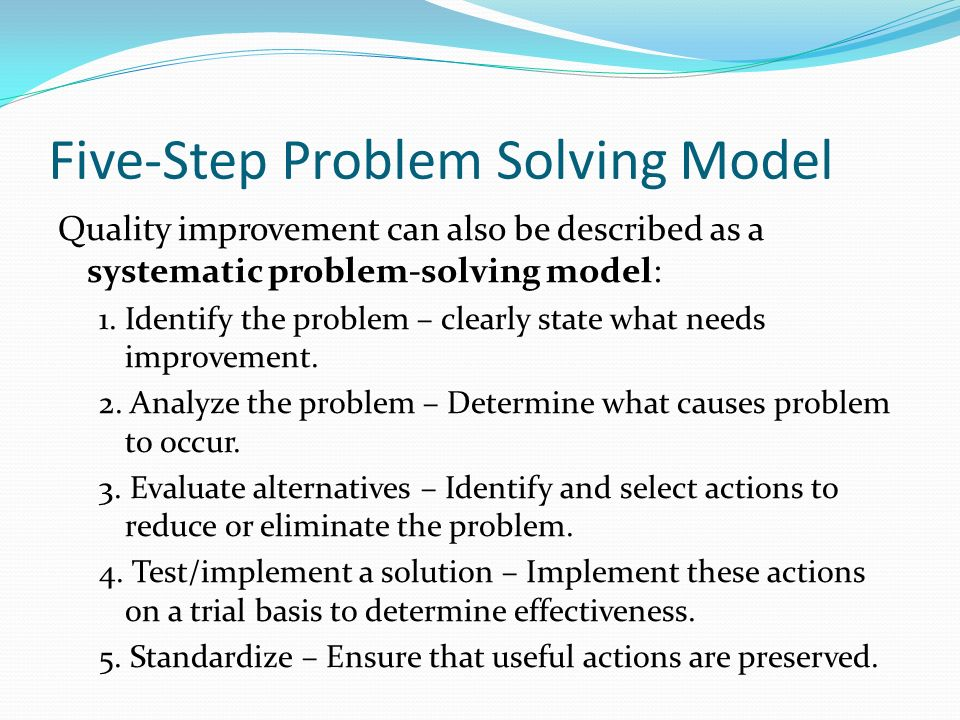 Five-Step Problem Solving Model