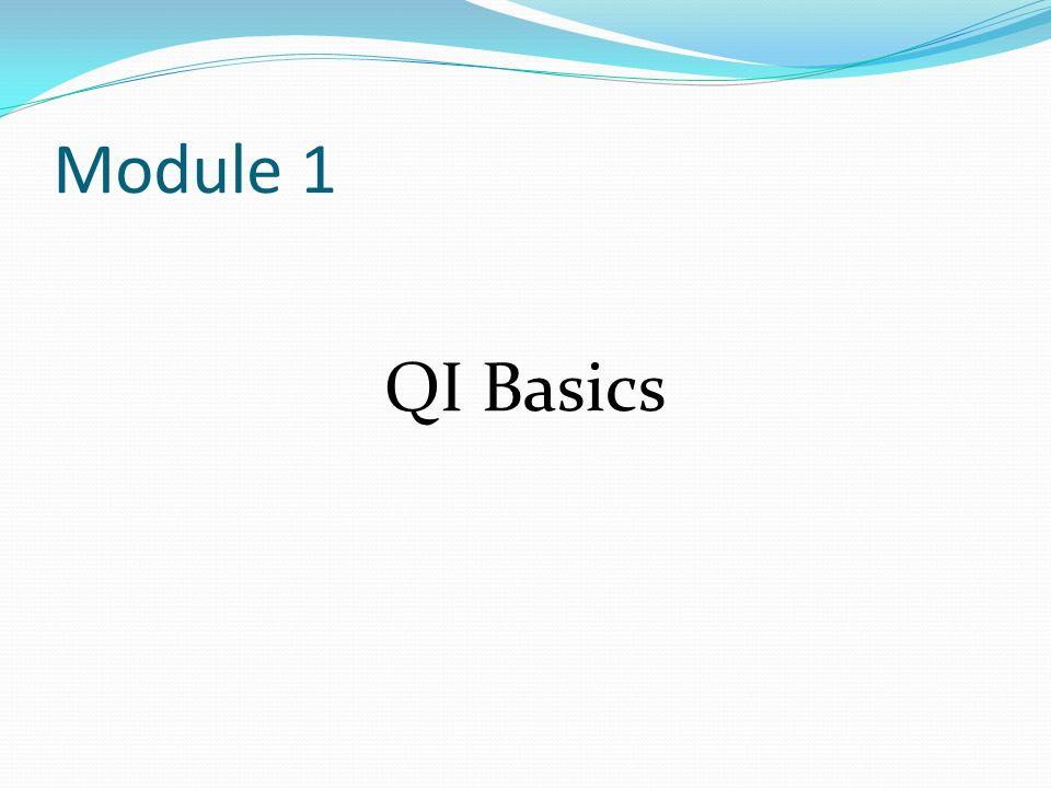 Module 1 QI Basics