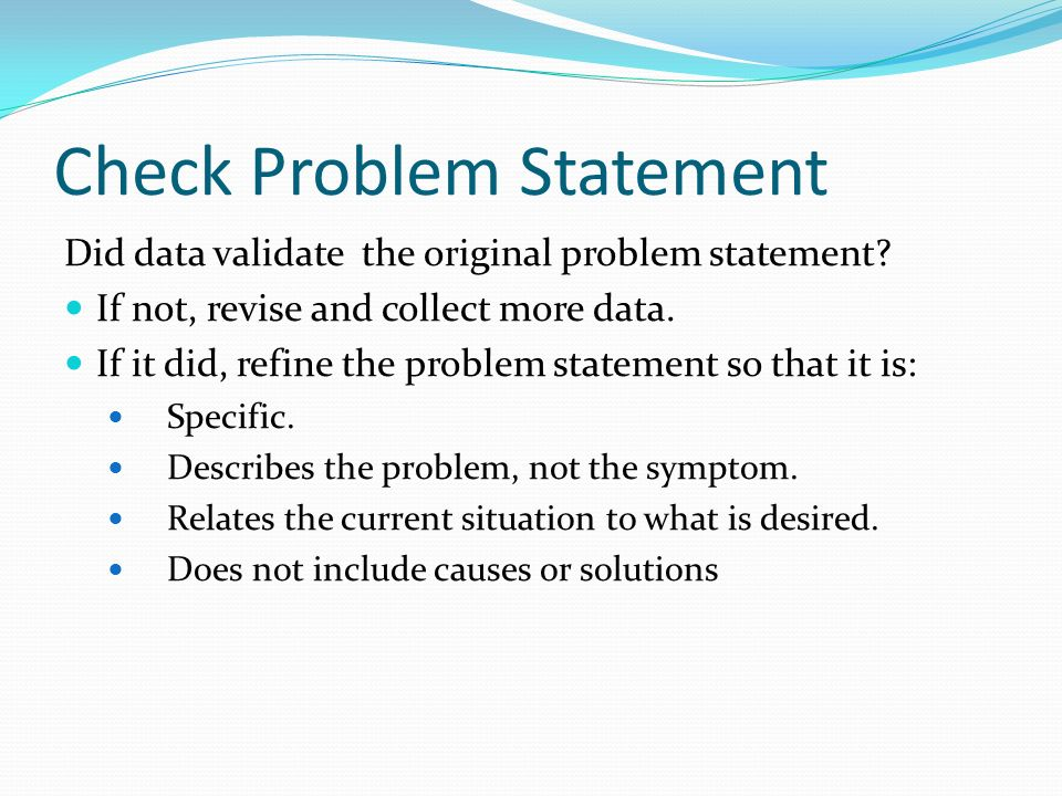 Check Problem Statement