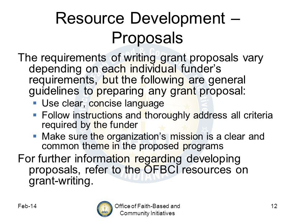 Resource Development – Proposals
