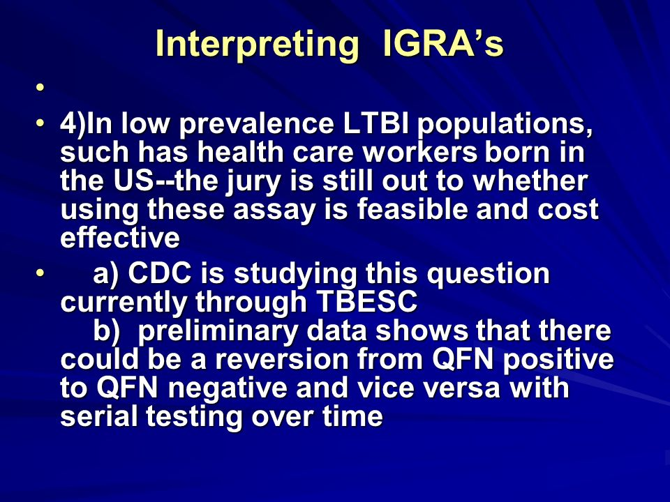 Interpreting IGRA's