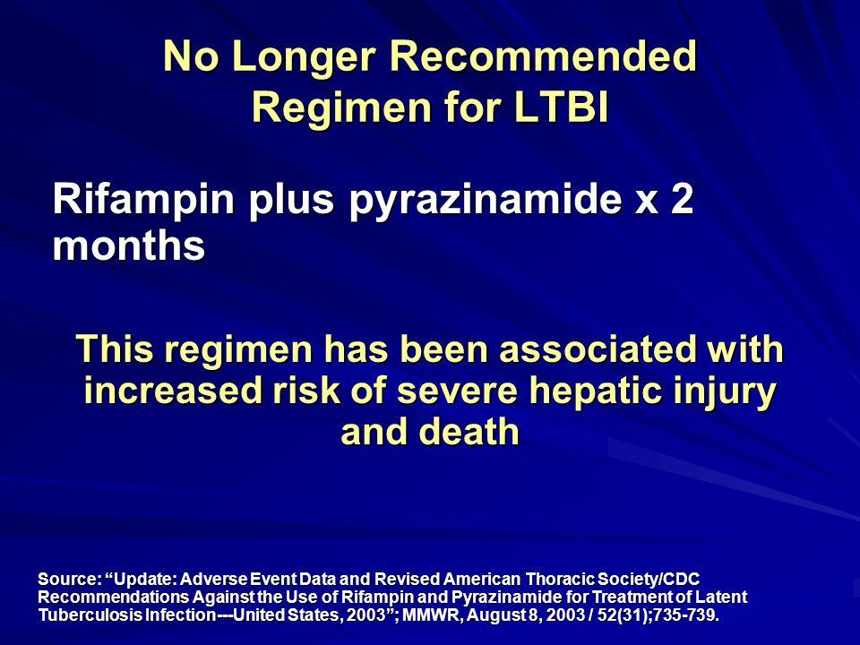 No Longer Recommended Regimen for LTBI