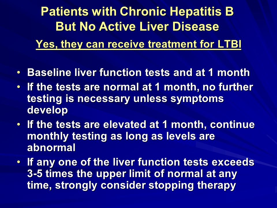 Patients with Chronic Hepatitis B But No Active Liver Disease