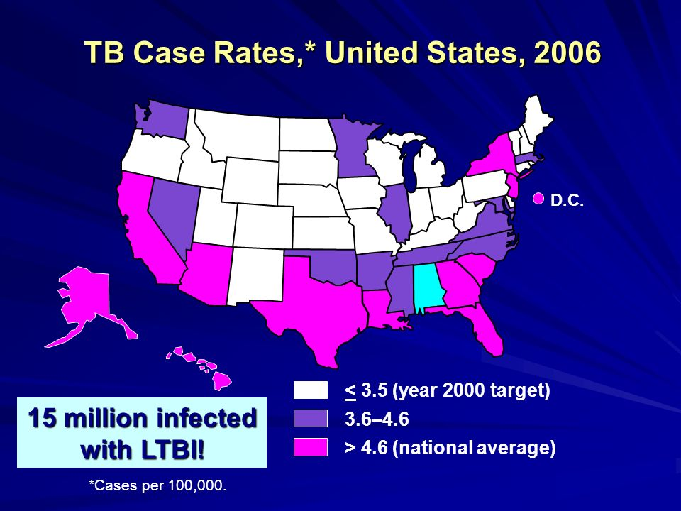 TB Case Rates,* United States, 2006